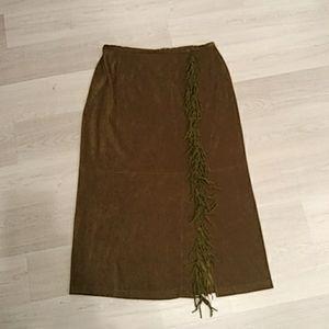 Olive green vintage skirt